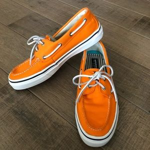 Sperry Orange Boat Shoes Size 11.5